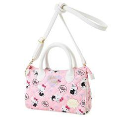 2bb43ca80741 Sanrio HelloKitty Small Boston Bag Tote Shopping Handbag Shoulder Bag Japan