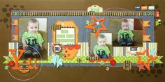 Gallery Projects - Scrapbooking - 2 Page Layout - Two Peas in a Bucket