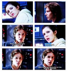 Star Wars Episode V: The Empire Strikes Back - Han & Leia say goodbye Dc Movies, Good Movies, Star Wars Art, Star Trek, Princesa Leia, Han And Leia, Romanogers, Original Trilogy, The Force Is Strong