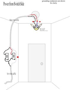 Wiring Diagrams for a Ceiling Fan and Light Kit . Clear, easy-to-read wiring diagrams for a ceiling fan with light kit including dimmer and speed controller. Ceiling Fan Pull Chain, Ceiling Fan Pulls, Fan Light Switch, 3 Way Switch Wiring, Decorative Ceiling Fans, Show Power, Three Way Switch, Bathroom Exhaust Fan, Electrical Wiring