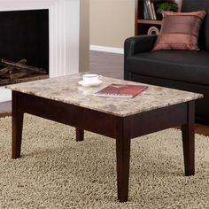 Dorel Home Dorel Home Faux Marble Lift Top Coffee Table - Walmart.com