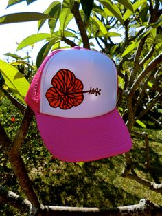 Items similar to hibiscus trucker hat on Etsy d9e8608cbc22