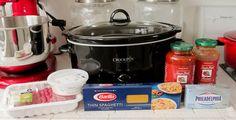 crockpot spaghetti dinner