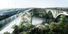 Bjarke Ingels Reinvents the Bridge as a Mountain of Landscaped Trails