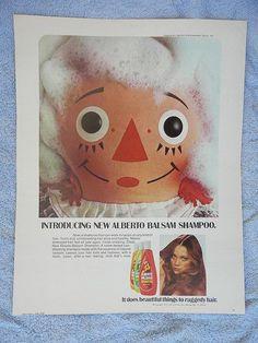 Wonderful Alberto ad with Raggedy Ann