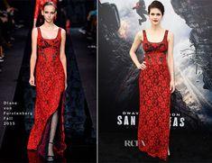 Alexandra Daddario In Diane von Furstenberg – 'San Andreas' LA Premiere