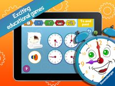 """#backtoschool: """"My first clock"""" is available for 0,99 €/$ for only a couple more days. Soon school starts again and it is good to know how to tell the time.  Get the app here:  iTunes: https://itunes.apple.com/app/id881385720?mt=8&ign-mpt=uo%3D4  Amazon: http://www.amazon.com/gp/product/B00NAYMCMC  Google Play: https://play.google.com/store/apps/details?id=com.ravensburgerdigital.meineuhr"""
