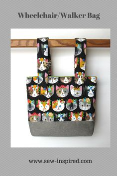 This handy wheelchair tote bag is perfect for holding your essential items close to you while using your wheelchair, walker or even a stroller!  With fully adjustable straps that detach on one end with hook and loop tape, it can even be used on the armrest of a wheelchair with low wheels.