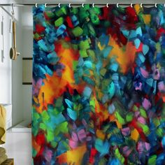Amazon.com: DENY Designs Madart Color Blast Shower Curtain, 69-Inch by 72-Inch: Home & Kitchen