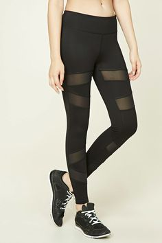 Active Mesh-Paneled Leggings