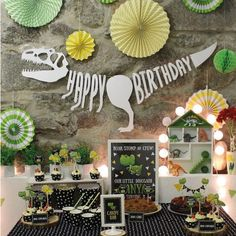 Huiran Dinosaur Party Decor Dinosaur Birthday Party Supplies Boy Jungle Animal Decor Jurassic Kids Birthday Parties Decorations photo ideas from Amazing Home Decor Photo Ideas Dinasour Party, Dinasour Birthday, Dinosaur Birthday Party, Fourth Birthday, 3rd Birthday Parties, Birthday Party Decorations, Birthday Ideas, Birthday Banners, Happy Birthday