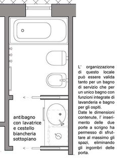 antibagno con lavanderia Bathroom Spa, Bathroom Layout, Bathroom Interior, Modern Bathroom, Small Bathroom, Bedroom Bed Design, Small Room Bedroom, Interior Design Living Room, Square House Plans
