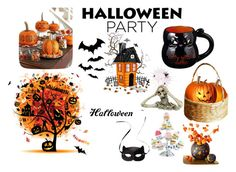 """Halloweeeeeennnnn"" by rawal-sadhana on Polyvore featuring interior, interiors, interior design, home, home decor, interior decorating, H&M, Grasslands Road and Halloweenparty"