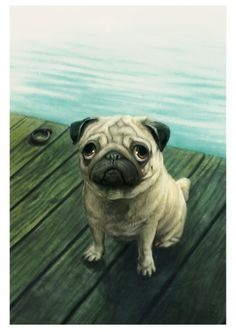 You are such a Good Boy! Digital painting 2016... - Pugs