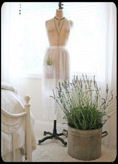 Wonder if I could convince hubby to get me a vintage dress form for Mother's Day?