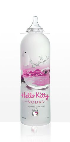 HK Vodka and the bottle is super cute...  SOLD!