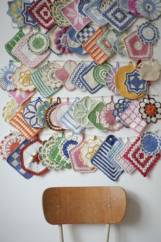 So nice, this collection of crocheted pot-holders