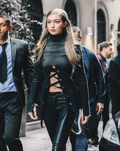 After the last show in Milan... more in @voguespain @gigihadid #mfw