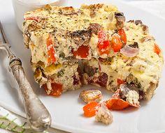 Ομελέτα με λαχανικά, μυρωδικά και γιαούρτι στο φούρνο