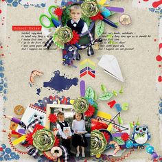 Most of our kiddos are going back to school again. Learning fun things or mabey less fun things, Learning to read and counting the numbers. This kit is about all the fun things of school. Coloring, counting, reading and craft. Perfect to scrap all of their school memories   #thestudio #digitalscrapbooking #backtoschool #inspiration #layout