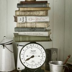 Discover how beautiful vintage kitchen scales can look in your home! I love them!