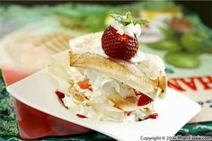 Asian-Style Strawberry Napoleon Recipe (Mille-feuille Fraise Noix deCoco Dessert)