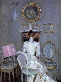 Madame Helleu in Her Husband's Studio  by Paul César Helleu