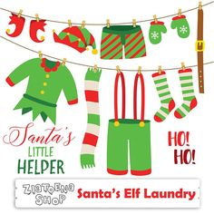 Elf Clothes Drawing - Santa's Elf Laundry Clip Art Elf clip art Christmas Clipart Holiday Clipart Elf Clothes clipart Winter clipart Scarf Socks Belt Christmas Math, Christmas Drawing, Christmas Clipart, Christmas Crafts, Winter Clipart, Christmas Ornaments, Christmas Trees, Elf Drawings, Bunting Pattern