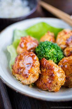 Teriyaki Chicken Meatballs | Easy Japanese Recipes at JustOneCookbook.com