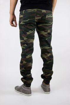 Jogger Jeans Pantalones Para Hombre Hecho En Estados Unidos de máxima calidad. Ejército Camo Estilo