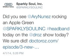 Did you see Ary Nunez rocking an Apple Green Sparkly Soul nonslip full-elastic wide #headband today on the Đoctor Oz Show today? We sure did! Check out the sparkly clip here: http://www.doctoroz.com/episode/3-new-ways-prevent-alzheimers?video_id=3385517142001 #drozshow #sparklysoulinc #headband #workout Dr. Mehmet Oz