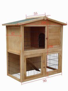 Conejera Conejera Jaula De Conejos Jaula Para Conejo Establo Jaula Conejos #1102 | Casa, jardín y bricolaje, Artículos para animales, Otros | eBay!