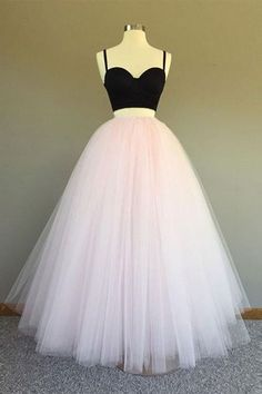 Classy Prom Dresses, Pink Tulle Prom Dresses A-line Long Sleeveless Evening Dresses Two Piece Formal Gowns Sexy Straps Party Pageant Dresses for Juniors Prom Dresses Long Junior Pageant Dresses, Prom Dresses Long Pink, Day Dresses, Pretty Dresses, Evening Dresses, Dress Long, Open Dress, Long Dresses For Juniors, 2 Piece Homecoming Dresses