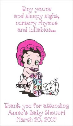 Baby Betty Boop Baby Shower Magnets Favors Gifts Thanks | eBay