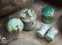 African turquoise stone plugs
