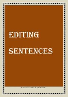 To encourage students to learn how to edit sentences, this resource is designed with fifteen practice sentences wherein students are instructed to get rid of a certain number of words to make sentences crisp and meaningful without repetition. This worksheet includes an answer sheet and this activity can be used both in regular English Language Arts classes and ESL/ELL/EFL classes.