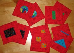 Matching game 5 sets of matching shapes in by EmilHansDesigns