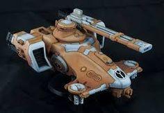 Tau Hammerhead Gunship by Farbfanatiker · Putty&Paint Tau Warhammer, Tau Empire, Miniatures, Painting, Nerdy, Models, Vehicles, Image, Inspiration