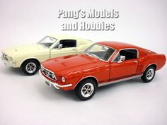 Ford Mustang GT 1967 1/24 Diecast Metal Model by Welly