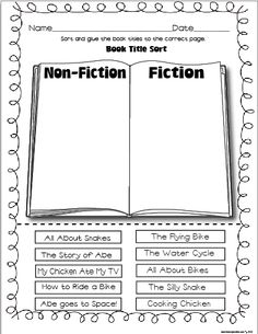 Fiction/Non-Fiction Sort
