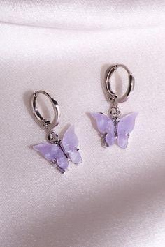 Violet Aesthetic, Lavender Aesthetic, White Aesthetic, Bar Stud Earrings, Gold Hoop Earrings, Purple Earrings, Prom Earrings, Pastel Purple, Shades Of Purple