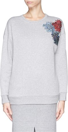 No.21 NO. 21 Sequin firework appliqué sweatshirt on shopstyle.com