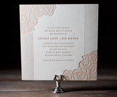 Eco-Friendly Letterpress Wedding Invitations - Bella Figura   Oh So Beautiful Paper