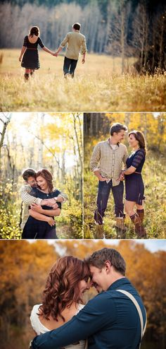 Perfect for some Flagstaff fall engagement pictures. :) Wish hubby weren't working this weekend we could get some nice pictures this weekend. Shooting Couple, Shooting Photo, Photo Couple, Couple Shoot, Couple Photoshoot Poses, Couple Picture Poses, Engagement Couple, Engagement Pictures, Fall Engagement
