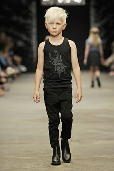 Love this kid's hair!  (New Generals 2013 S/S 2013)