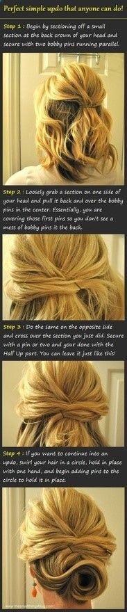 Finally a short hair updo that anyone can do! and it doesnt involve curling my non-curl able hair!