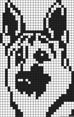 theme chien - Page 2 Counted Cross Stitch Patterns, Cross Stitch Charts, Cross Stitch Designs, Cross Stitch Embroidery, Loom Beading, Beading Patterns, Embroidery Patterns, Graph Paper Art, Minecraft Pixel Art
