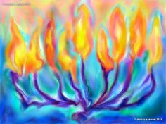 MENORAH /// Judaica - Art Print on Fine Archival Etching Paper,  Watercolor Paper or Canvas - by Eisner on Etsy, $30.00