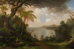 Martin Johnson Heade, View from Fern-Tree Walk, Jamaica, 1887. Photo: Sotheby's.