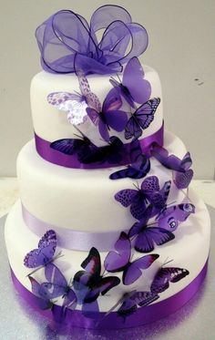 Ombr Inspired Wedding cake Designs at wwwwedmeprettycom http